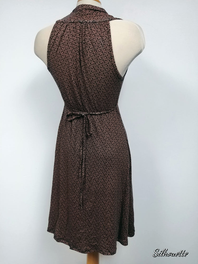 Viscose Dress, Black and Copper