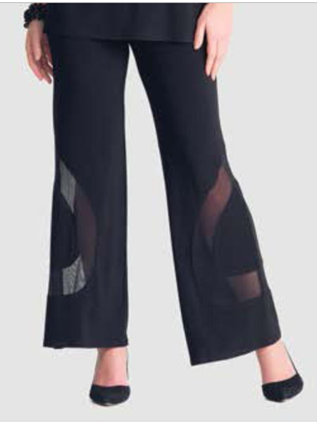 Black Palazzo Pant with Mesh