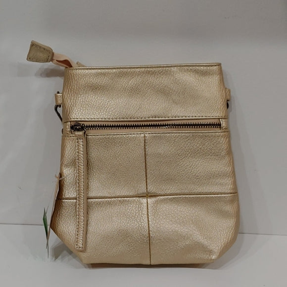 Gold Messenger Bag