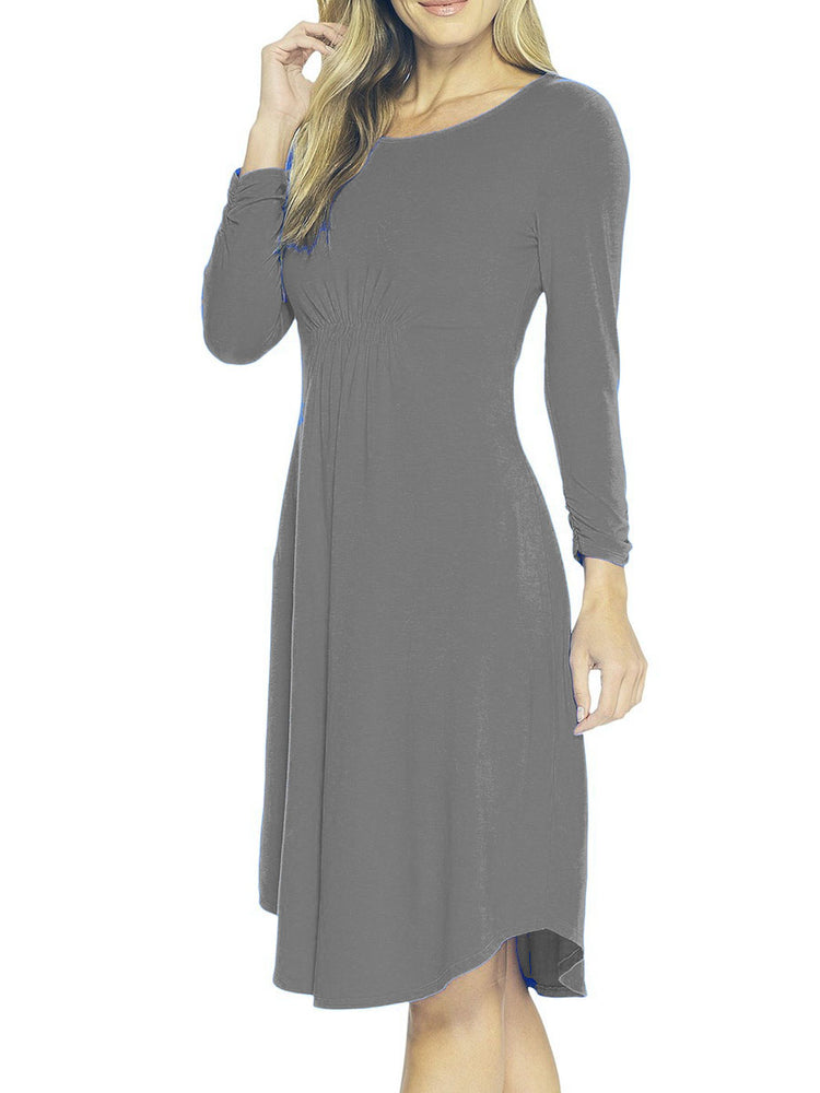 Cinch waist dress, cotton blend