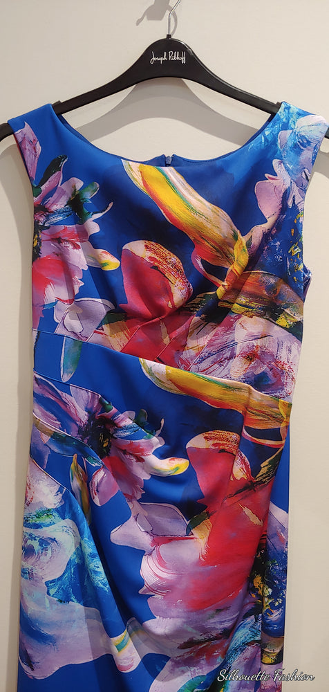 Joseph Ribkoff Royal Floral Dress