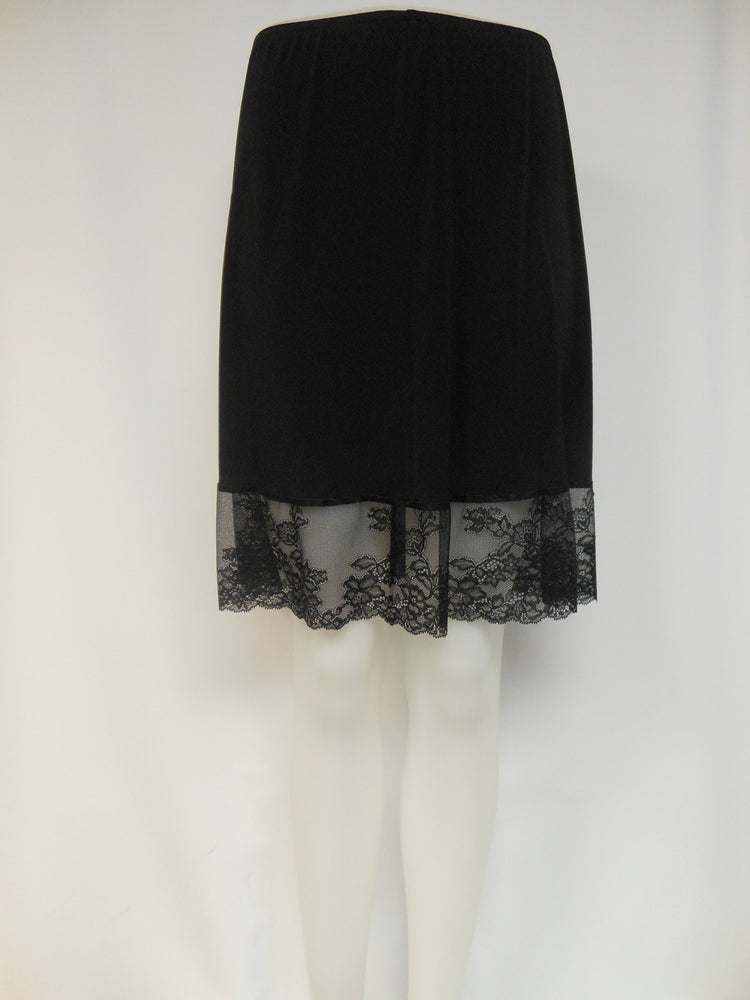Kollontai Black Lace Trim Petticoat,  One left, Size  XS