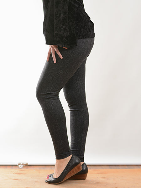 Grey Pull On Legging Pant