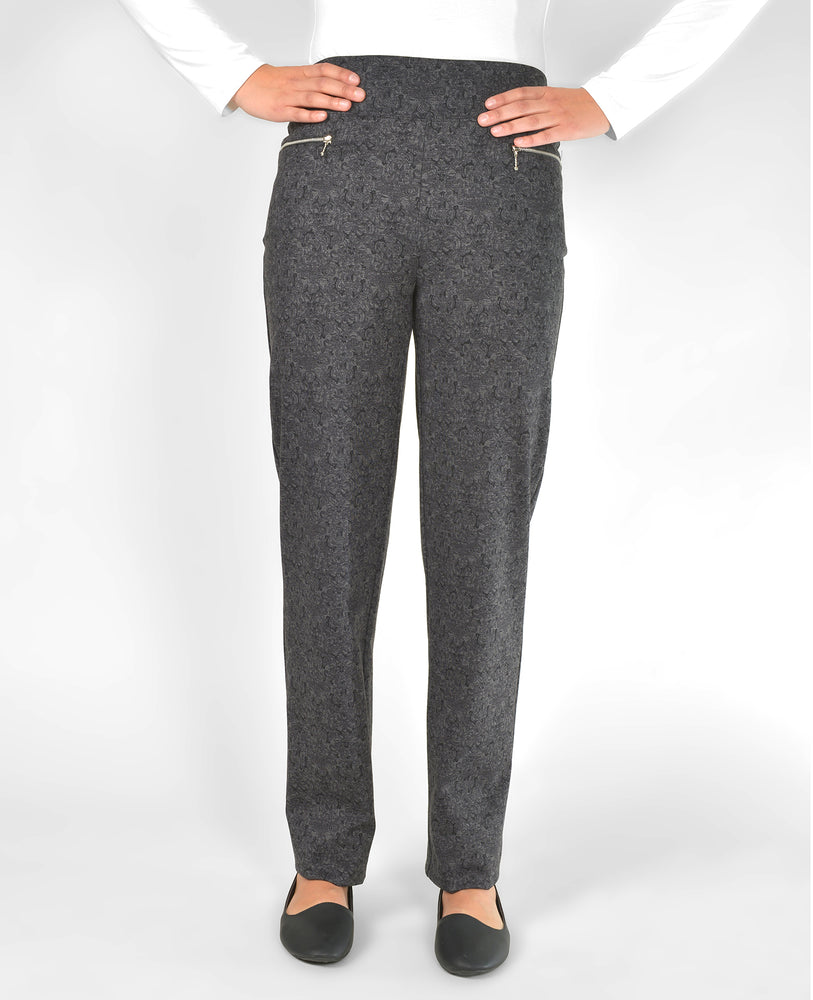 Mode de vie pull-up pant, black & grey print