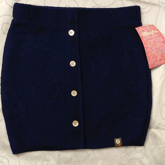 Textured Navy knit skirt, size Medium