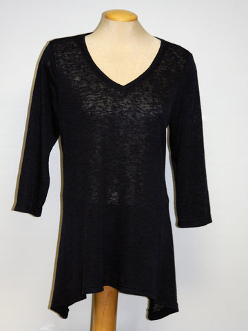 Pretty Woman V-NECK TUNIC, NAVY