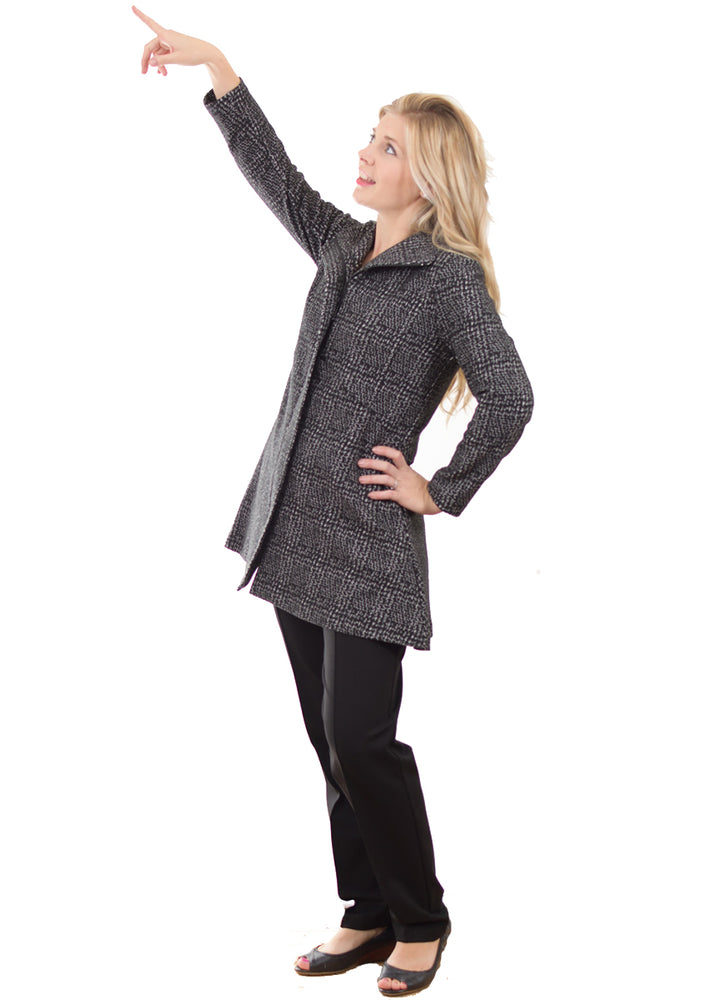Pretty Woman Black Grey Long Jacket