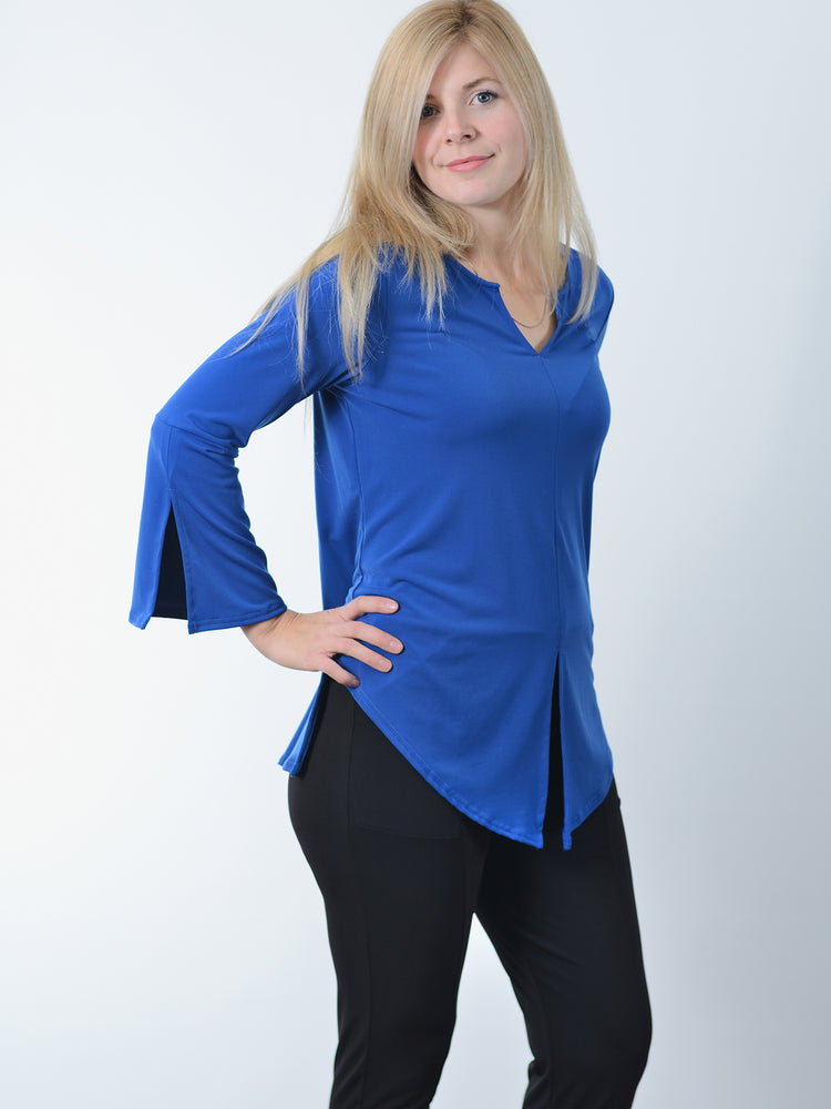 Pretty Woman Royal Bell Sleeve Top