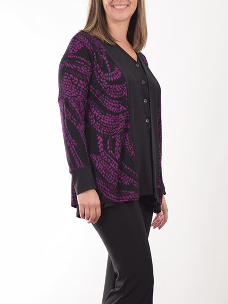 Pretty Woman Black Magenta Shrug