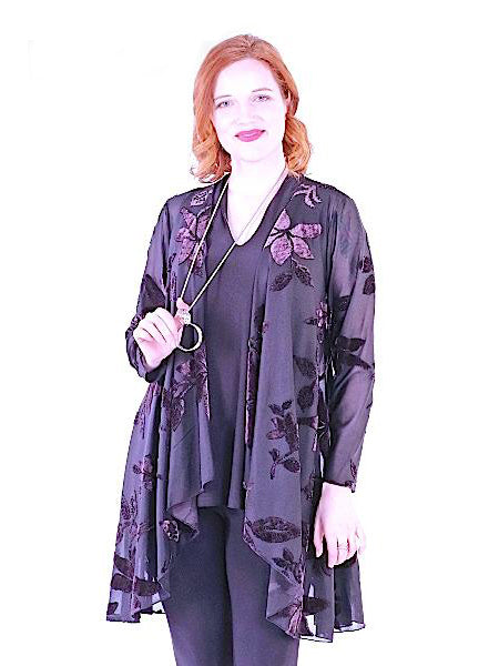 Pretty Woman Black Burn Out Duster