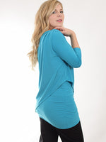 Pretty Woman Side Ruched Layered Tunic