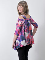 Pretty Woman Cold Shoulder Top Pinks, Purple