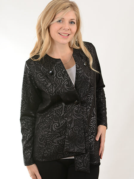 Pretty Woman Black Brocade Jacket