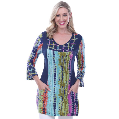 Parsley & Sage Jade Bell Sleeve Tunic