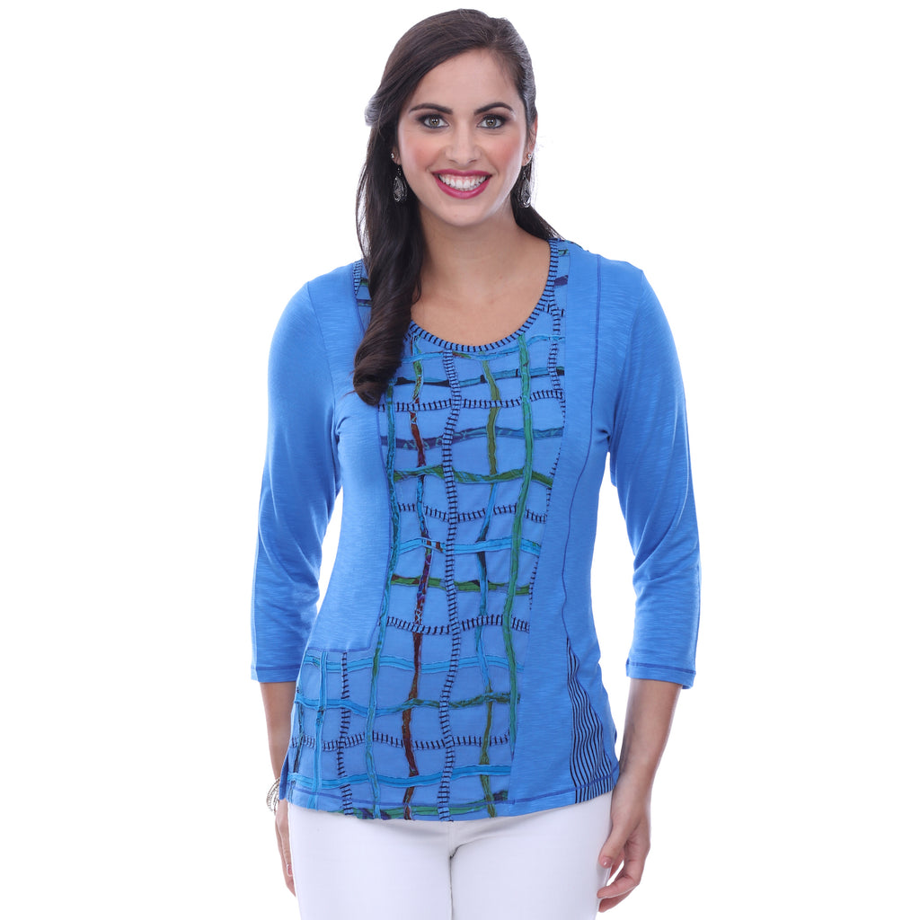 Parsley & Sage Jodie Top - Blue 18T21C2