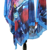 Cocoon House Degas Dancers in Blue Long Silk Kimono Jacket