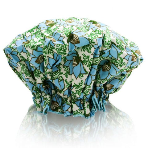 Spa Sister Bouffant Shower Cap - Lotus Garden