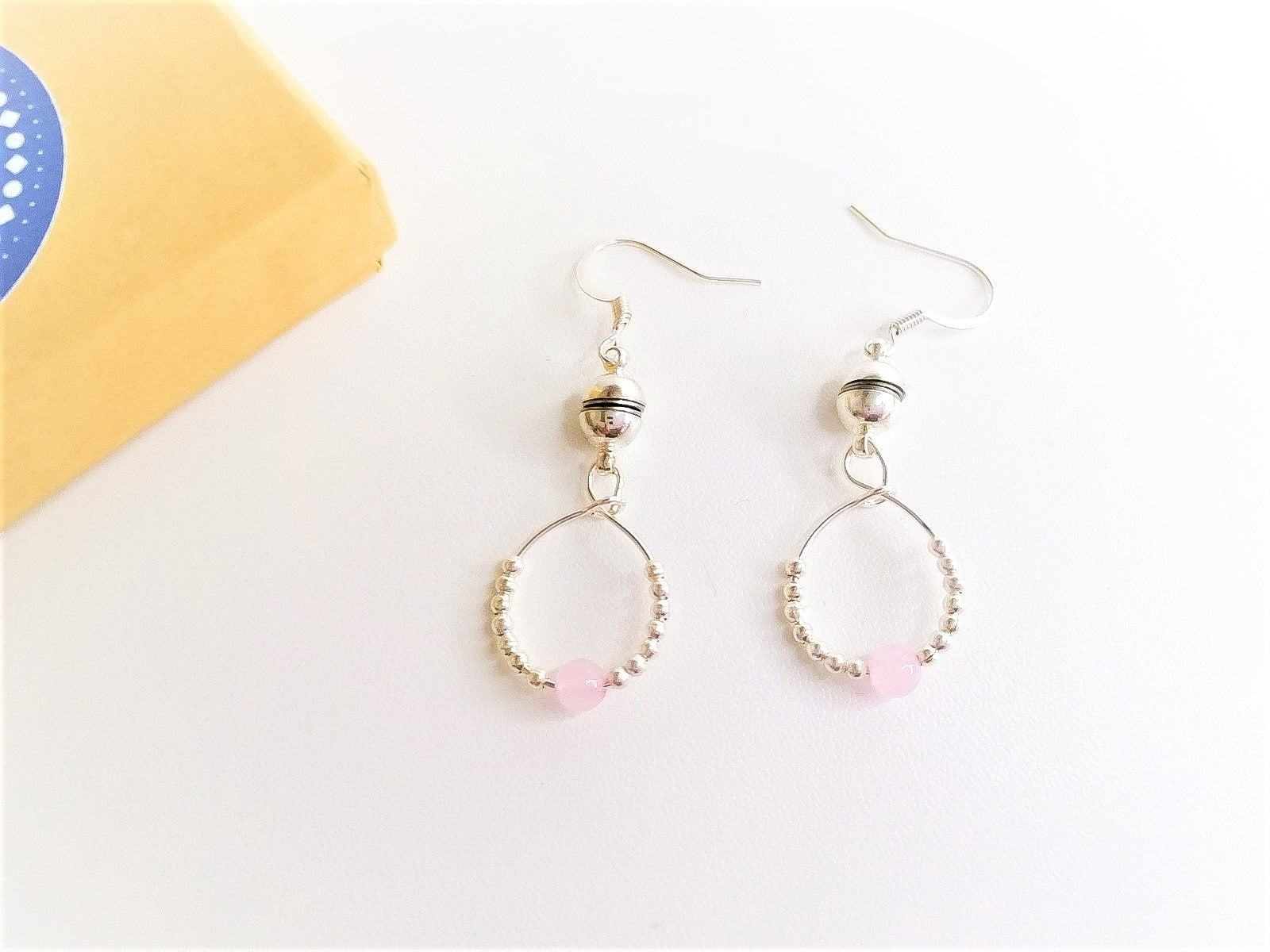 Rose Quartz Fidget Earrings