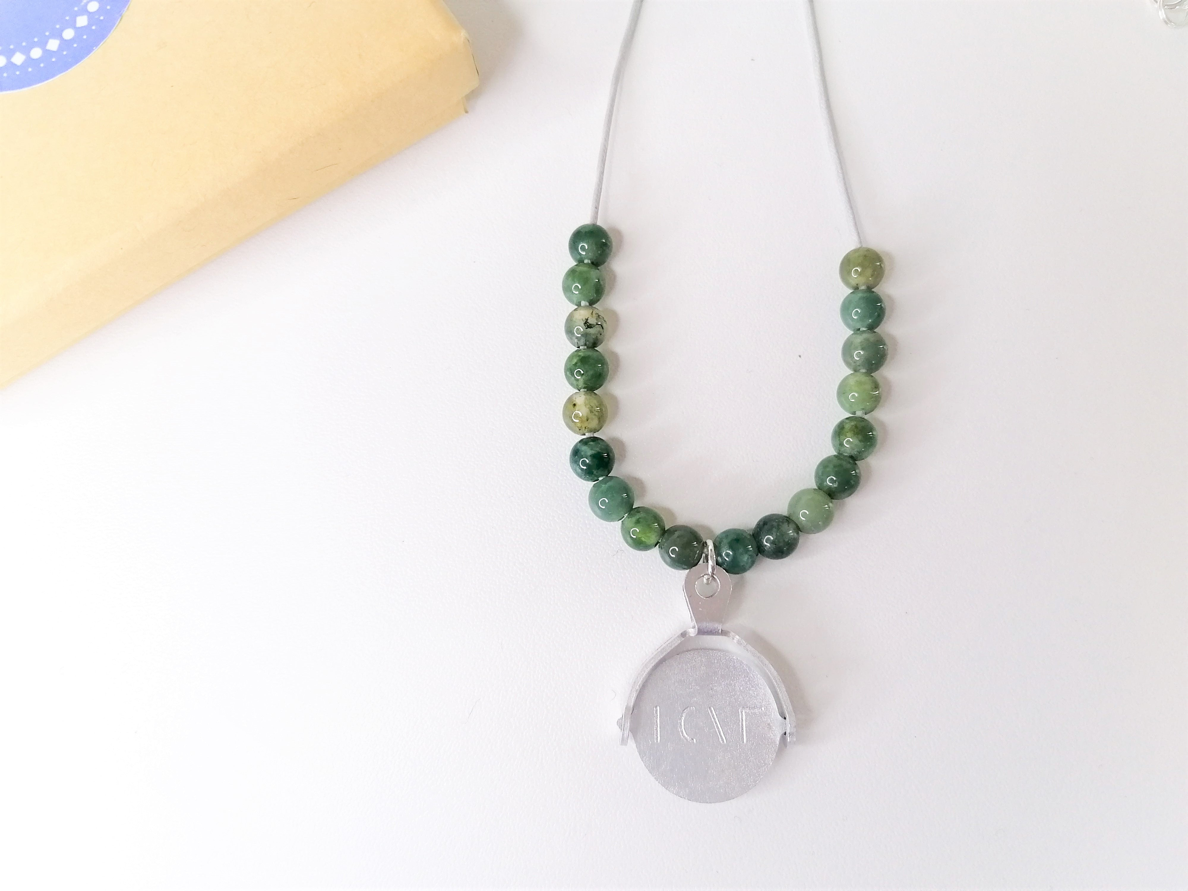 Agate Spinner Necklace