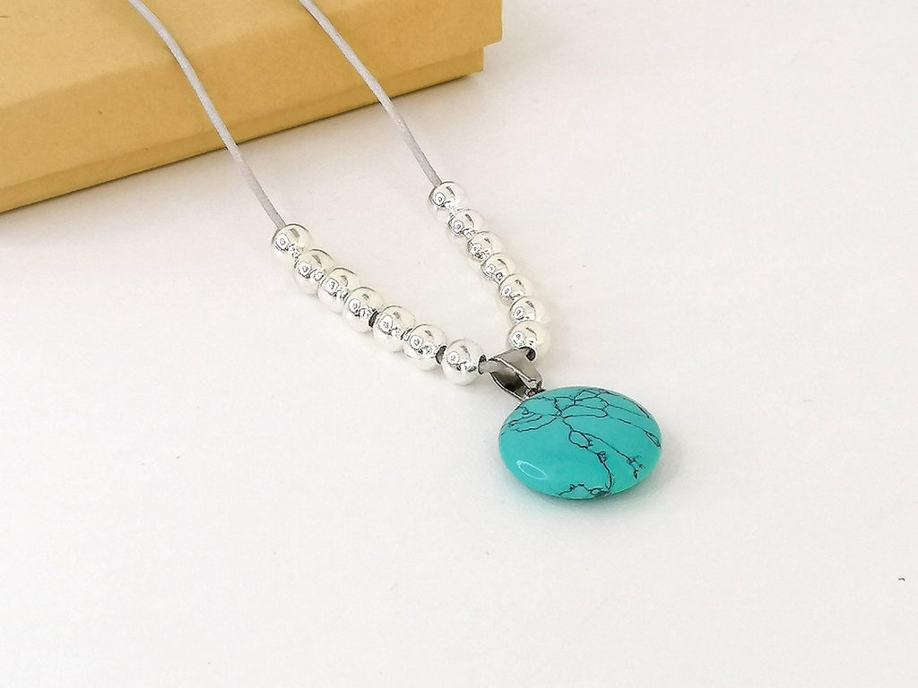 Turquoise Fidget Necklace - Worry Knot