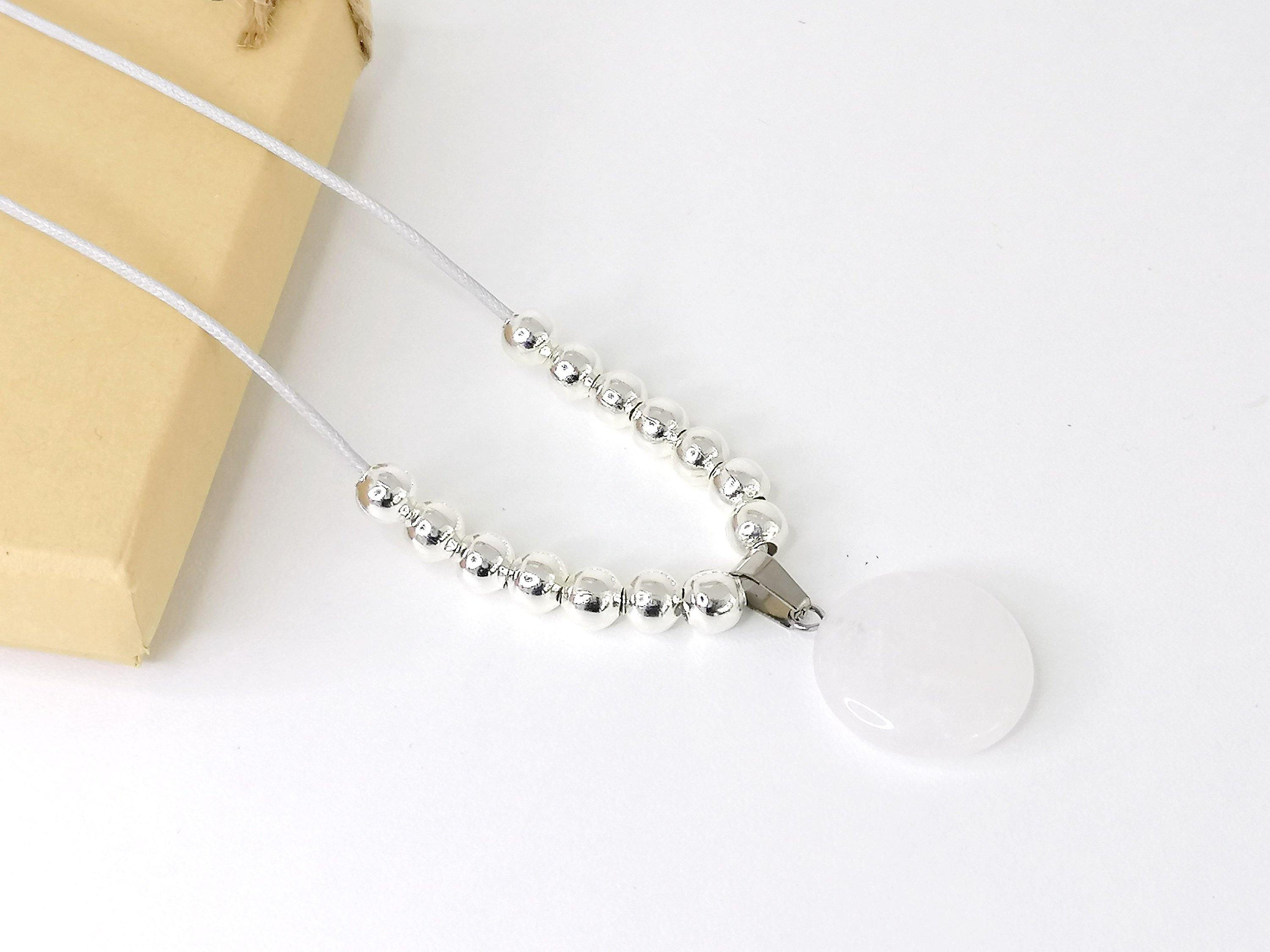 Clear Quartz Fidget Necklace Mindfulness Gift