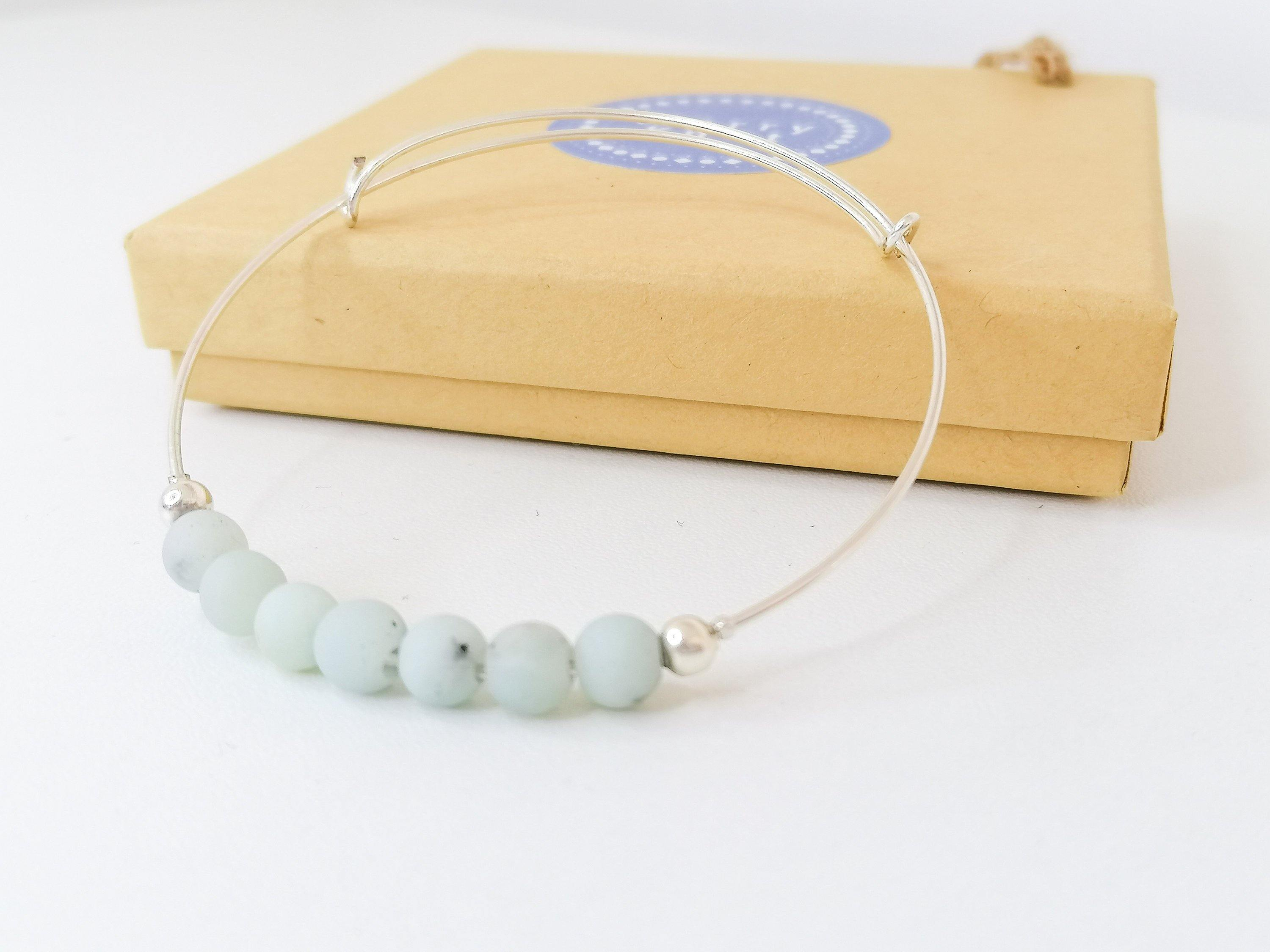 Amazonite Fidget Bangle - Artemis Collection - Worry Knot
