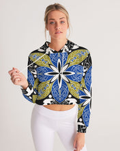 Load image into Gallery viewer, Flower Crown Women's Cropped Hoodie