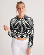 Load image into Gallery viewer, CyberGlyphic Gemstone Women's Cropped Hoodie