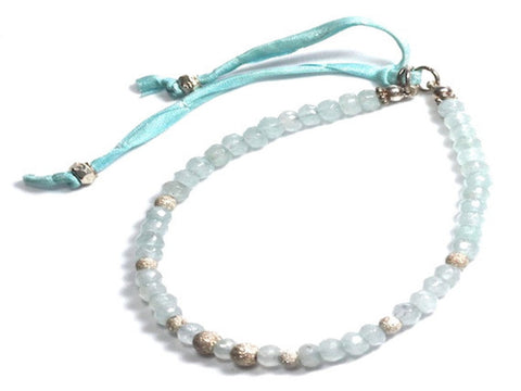 Christie faceted light blue jade and sterling silver stardust bracelet