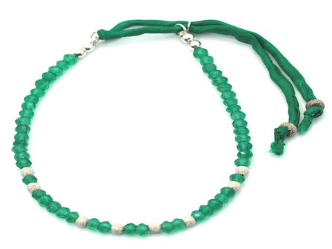 Suzy emerald and sterling silver stardust - bracelet