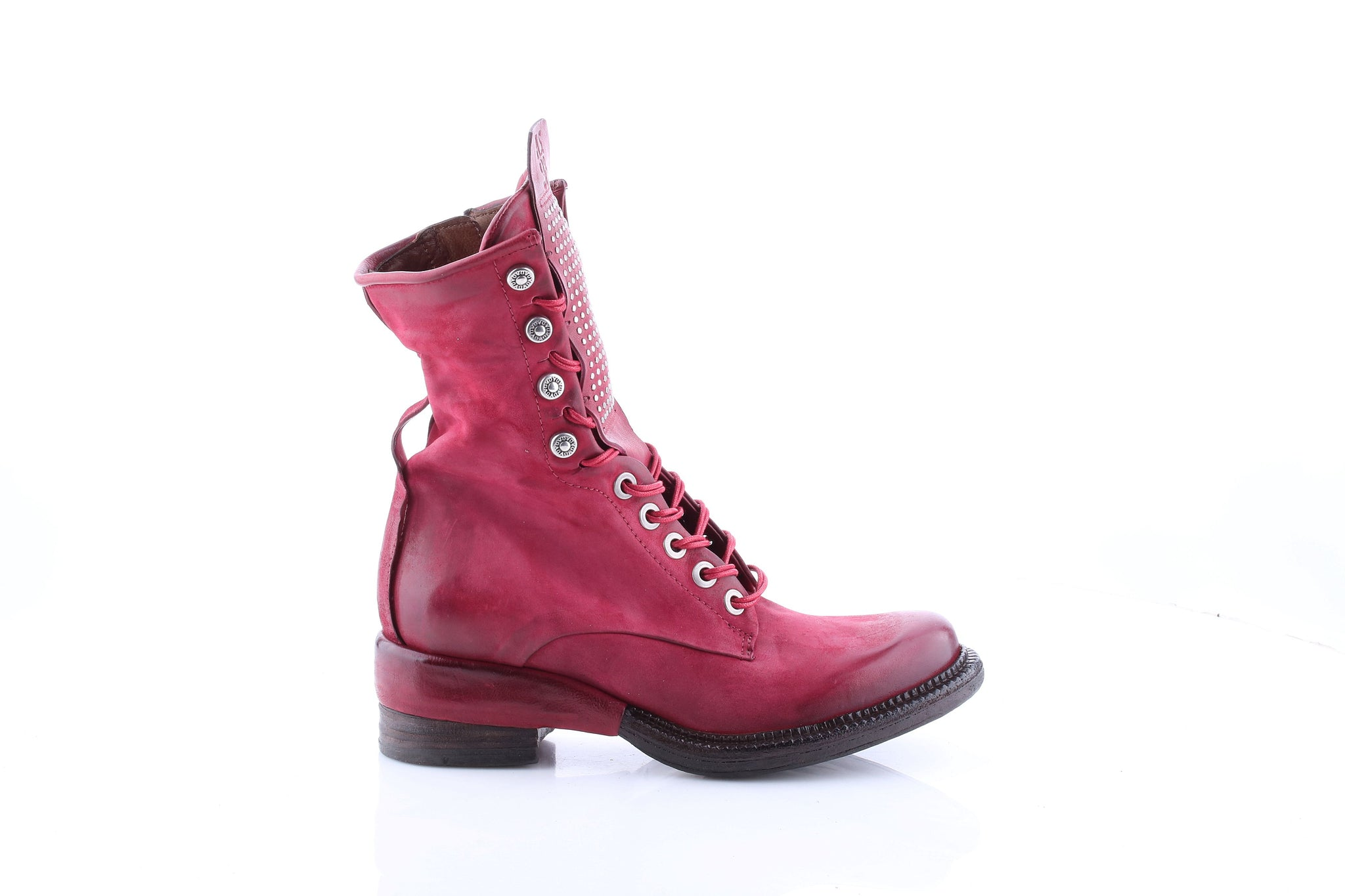 AS98 Italian Leather Boots in Cardinal