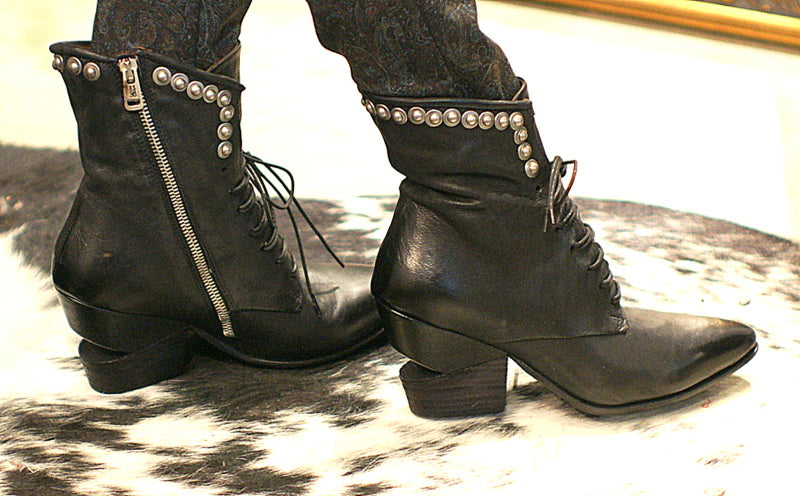 AS98 Italian Leather Ankle Boot in Nero