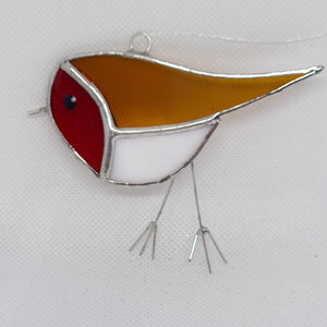 Cute Stained Glass Robin