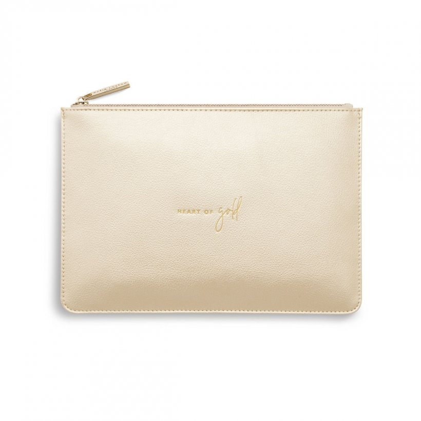 PERFECT POUCH | HEART OF GOLD | METALLIC CHAMPAGNE