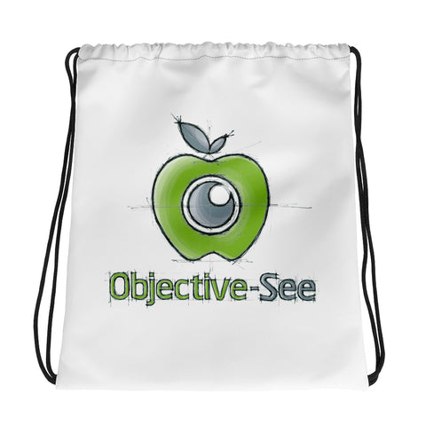 Objective-See Hand Drawn Drawstring Bag