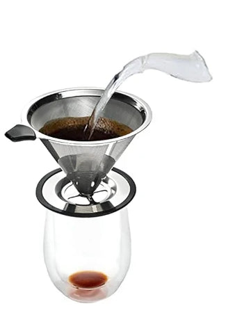 pour over coffee hot water