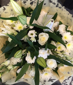 Hand Tied Bouquets - Classic White