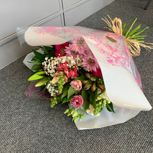 Hand Tied Bouquets - Pastel Pinks and Whites