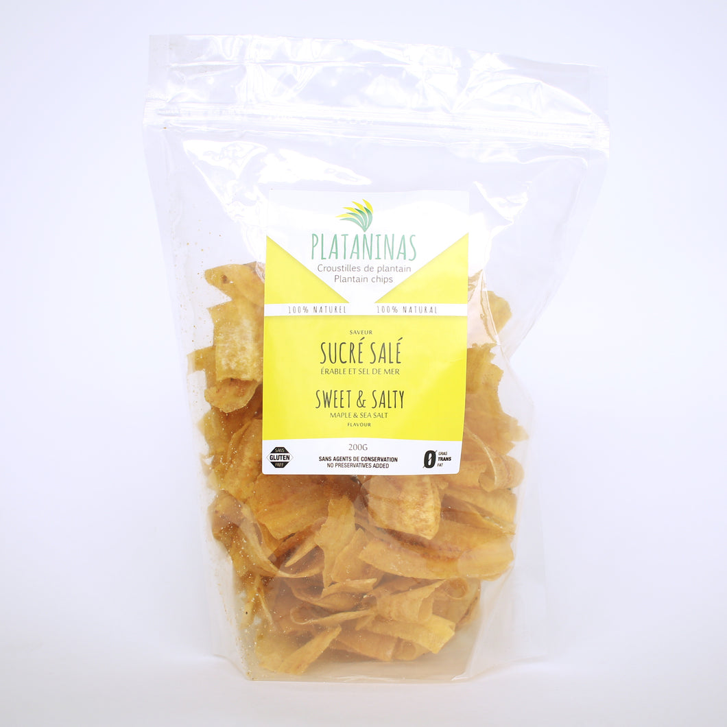 Chips Plantains Sucré Salé 200g