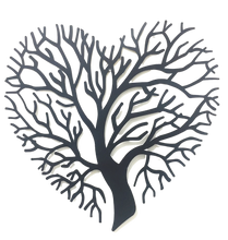 Load image into Gallery viewer, Tree of Heart - Black Metal Wall Hanging