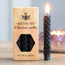 Load image into Gallery viewer, Black Beeswax Spell Candles