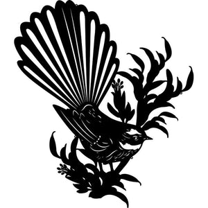 Fantail on Flax  Wall Art