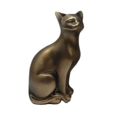 Sitting Bronze Cat
