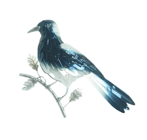 Magpie - Metal Wall Hanging