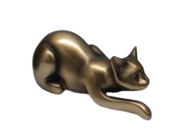 Lying down Bronze Cat