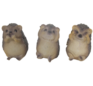 Hedgehog set - Hear, See, Speak no evil