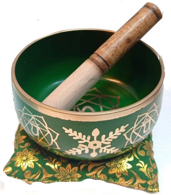 Chakra Singing Bowl Green