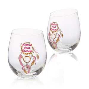 Tallulah Dream Stemless Glasses