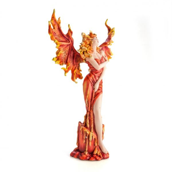 Fire Fairy on Candle Pedestal