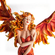 Load image into Gallery viewer, Fire Fairy on Candle Pedestal